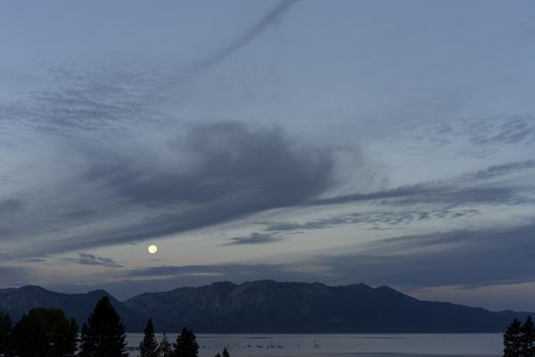 Moonset South Lake Tahoe Sept 28, 2015