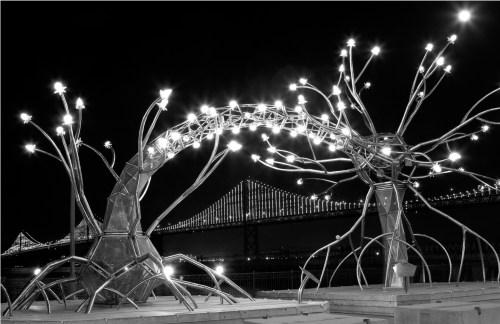 2b Bay Bridge and Neuron Lights